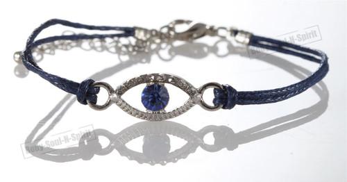 1 Blue Evil Eye woman Bracelets STRING Kabbalah Lucky Charm Spiritual Jewelry