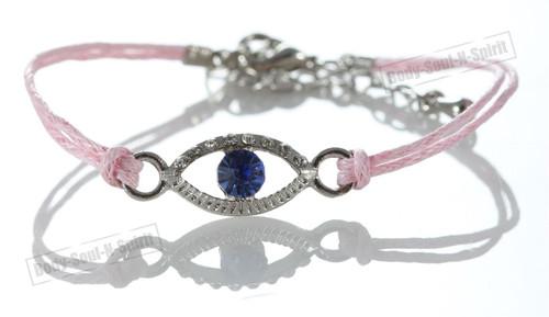 1 Pink Evil Eye woman Bracelets STRING Kabbalah Lucky Charm Protection Jewelry