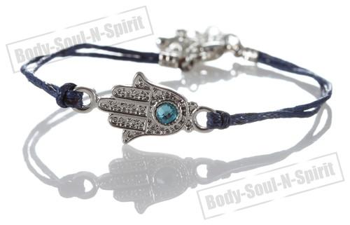 1 Blue Hamsa Hand Evil Stylish Bracelets STRING Kabbalah Lucky karma Spiritual