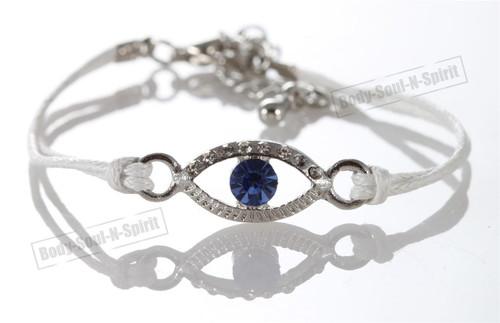 1 White Evil Eye woman Bracelets STRING Kabbalah Inspired Lucky Charm Jewelry