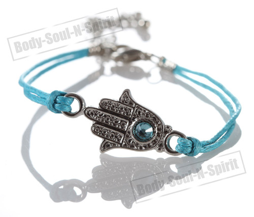 1 Sky Hamsa Hand Evil Stylish Bracelets STRING Kabbalah Lucky karma Spiritual