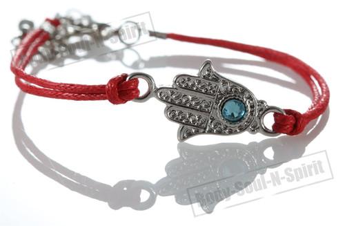 1 Red Hamsa Hand Evil Stylish Bracelets STRING Kabbalah Lucky karma Spiritual