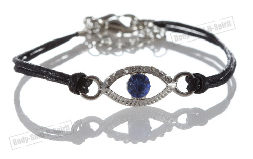 lot 1 Black Evil Eye Bracelets STRING Kabbalah good Lucky Charm Jewelry