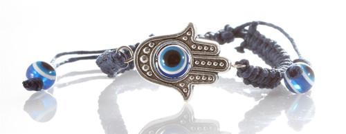 1 Sacred Hamsa Hand Evil Eye Blue STRING Bracelets Lucky Charm Spiritual Bangle