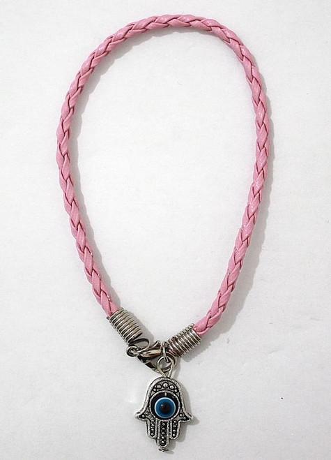 1 Hamsa Hand Pink String Evil Eye Lucky Spiritual Bracelets Success Protection