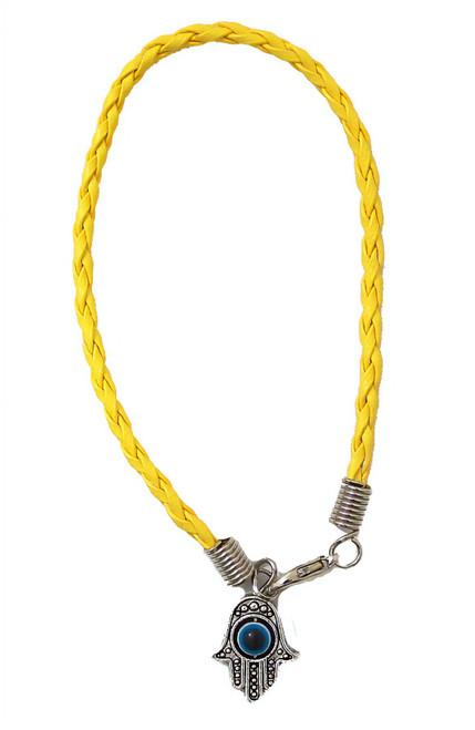 1 Hamsa Hand Yellow String Evil Eye Lucky Spiritual Bracelets Success Protection