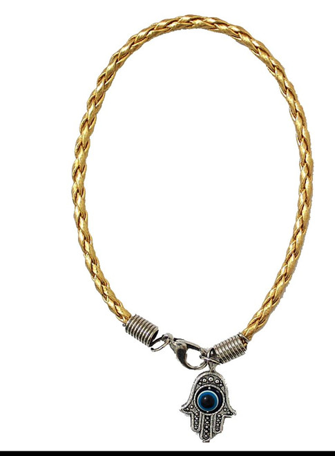 1 Hamsa Hand Gold String Evil Eye Lucky Spiritual Bracelets Success Protection