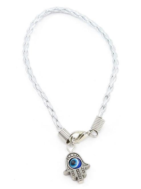 1 Hamsa Hand Silver String Evil Eye Lucky Spiritual Bracelets Success Protection