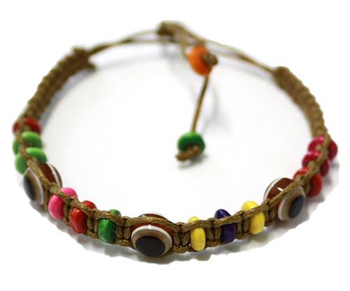 1 Evil Eye Brown String Ethnic Bracelets Lucky Eye Charm Bead success Bracelet