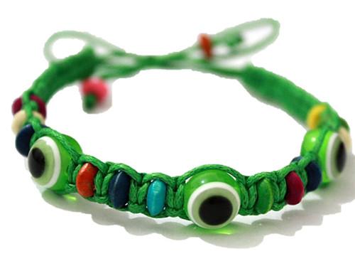 1 Evil Eye Green String Ethnic Bracelets Lucky Eye Charm Bead success Bracelet