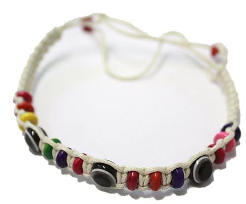 1 Evil Eye White String Ethnic Bracelets Lucky Eye Charm Bead success Bracelet