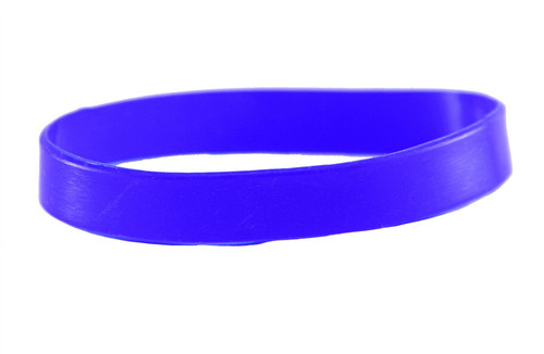 Blue blank Silicone Wristband powerful Rubber Bracelet good karma Bangle gift