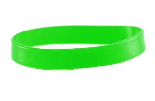 Green blank Silicone Wristband powerful Rubber Bracelet good karma Bangle gift