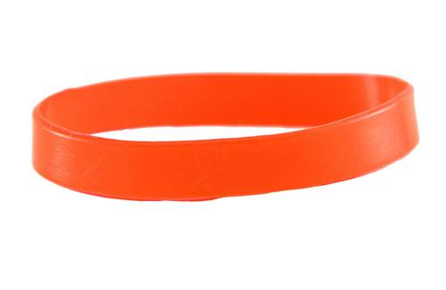 Orange blank Silicone Wristband powerful Rubber Bracelet good karma Bangle gift