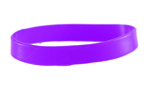 Purple blank Silicone Wristband powerful Rubber Bracelet good karma Bangle gift