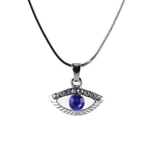 Blue Evil Eye Amulet Necklace good Charm success Protection Judaica Spiritual