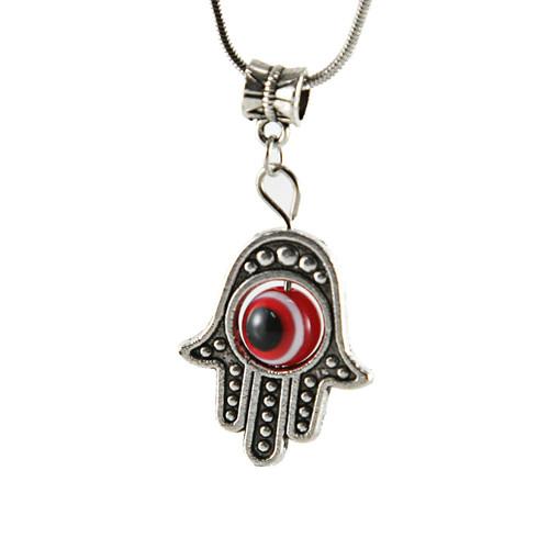 Red Hamsa Hand of Fatima EVIL EYE Necklace Lucky charm Choker karma god Pendant