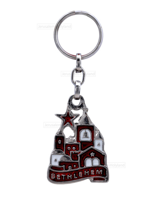 Holyland Bethlehem Key Chain keyRing CHRISTIAN karma charm XMAS RELIGIOUS GIFT