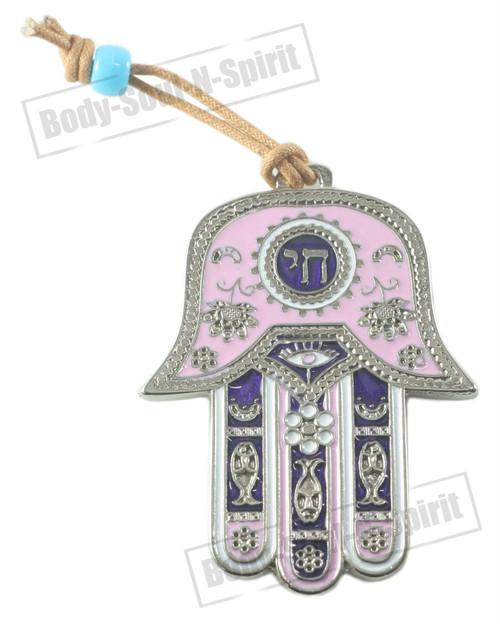 Lucky CHAI Pendant Hamsa Wall Hanging Judaica Kabbalah silver plated karma Gift