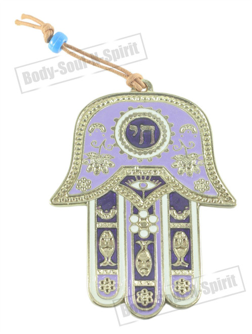 Success holy souvenir Judaica CHAI Hamsa hand Wall Hanging Kabbala Lucky Charm
