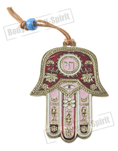 Hamsa CHAI Wall Hanging Judaica Kabbala Spiritual Protection Pendant Lucky Charm