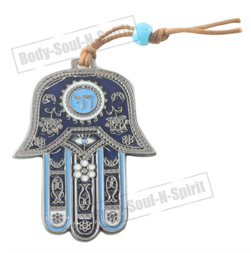 Success Lucky souvenir 9.5 CM CHAI Hamsa Wall Hanging Judaica Pendant Kabbalah