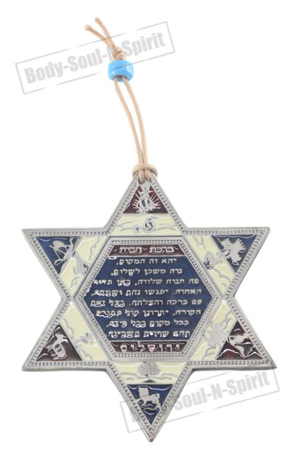 Home Blessing décor STAR OF DAVID Lucky Soul holy souvenir Judaica Wall Hanging