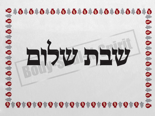 Rimon holiday gift SHABBAT Shalom Hallah Shabbos Challah Cover Israel Jewish