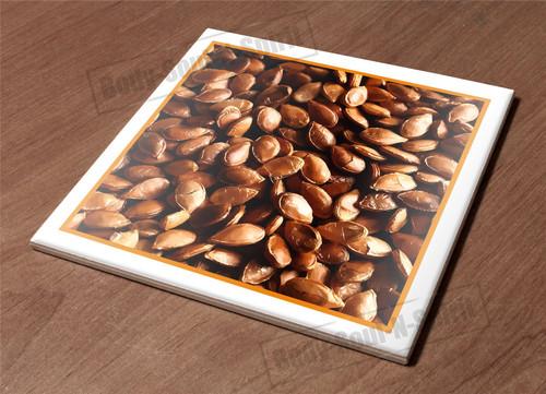 Ceramic Hot Plate kitchen Trivet Holder pumpkin food seed health natural decor