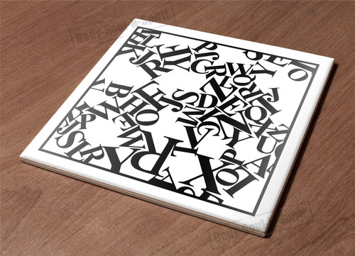 Ceramic Hot Plate kitchen Trivet Holder abc pattern font paint decor design