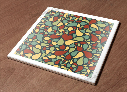 Ceramic Hot Plate Kitchen Trivet Holder Pattern Abstract Paint Decor Design