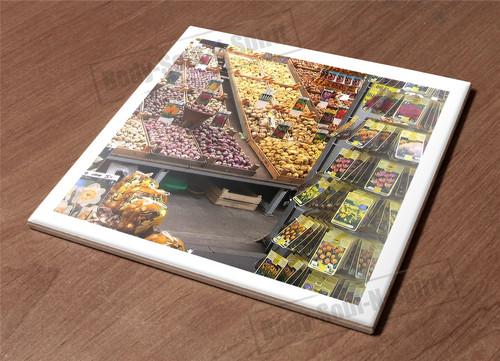 Ceramic Tile HotPlate kitchen Trivet Holder market food flower variegated gift