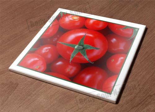 HotPlate Kitchen Trivet Holder Ceramic Tile Red tomato food vegy natural gift