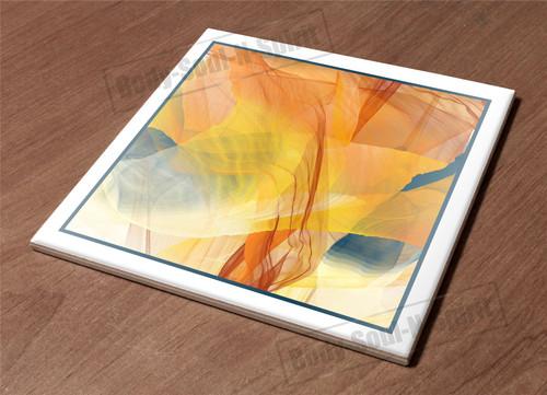 Ceramic Hot Plate kitchen Trivet Holder tile abstract art paint decor design