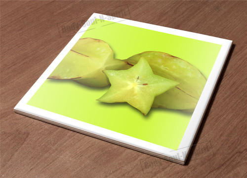 Ceramic Hot Plate kitchen Trivet Holder fruits star carambola health nature