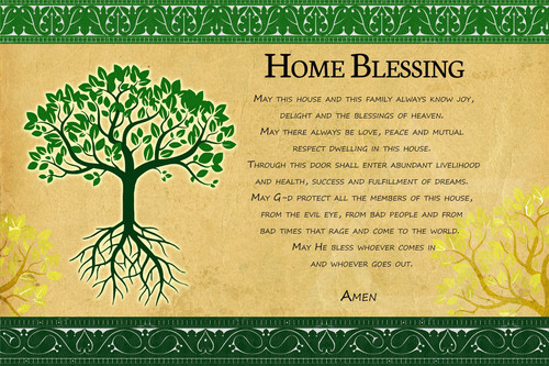 Fulfillment Tree of life EN home Blessing decor poster Judaica Gift wall hanging