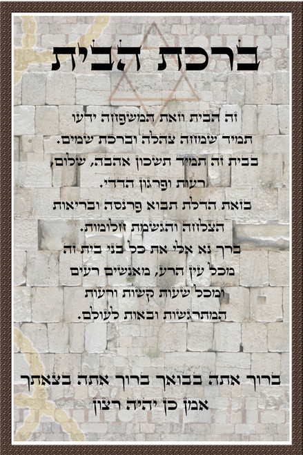 Western Wall Protection HE home Blessing d?cor poster Judaic Gift wall hanging