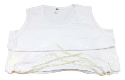 Large Kosher 100% White Jewish Gift Cotton Israel Tzitzit Tsitsit Tallit Katan