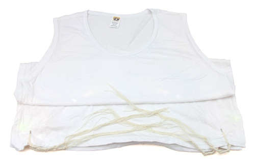 X-Large Kosher 100% White Jewish Gift Cotton Israel Tzitzit Tsitsit Tallit Katan