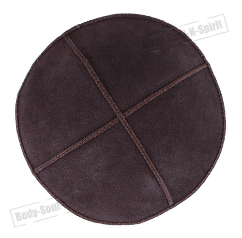 Brown leather Beanie Kippah Yarmulke Kippa Israel Tribal Jewish Hat covering Cap