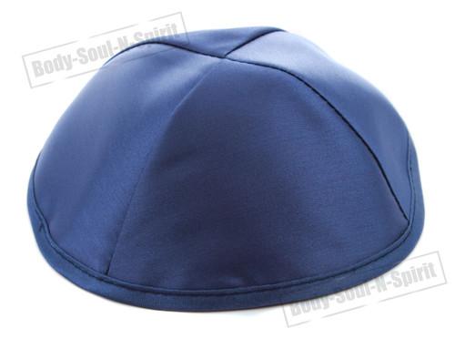 Blue Satin Kippah Yarmulke Tribal Jewish Yamaka Kippa Israel Hat Covering Cap