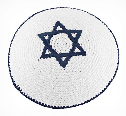 Star of David Knitted Yarmulke Tribal Jewish Yamaka Kippa religious solemn cap