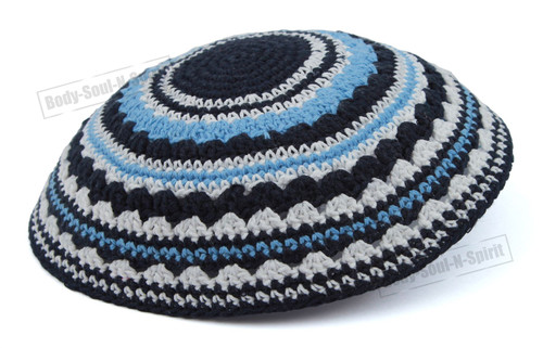 Holy sacred Yarmulke Knitted Tribal Jewish Yamaka Kippa Israel Hat Covering Cap
