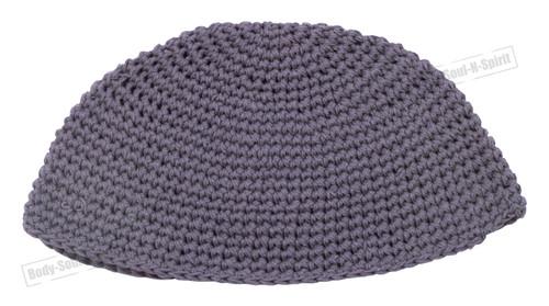 Gray Knitted Kippah Yarmulke Tribal Jewish Hat covering Cap Holy Scared cupola