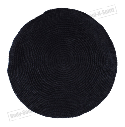 Classic THIN ELEGANT Knitted Black Kippa Hat Jewish Holy scared cupola Yarmulke