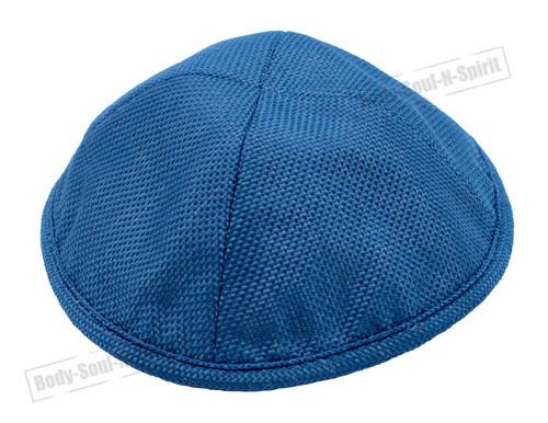 Blue LINEN KIPPAH PIN SPOT Yarmulke Tribal Jewish Yamaka Kippa holy Israel cap