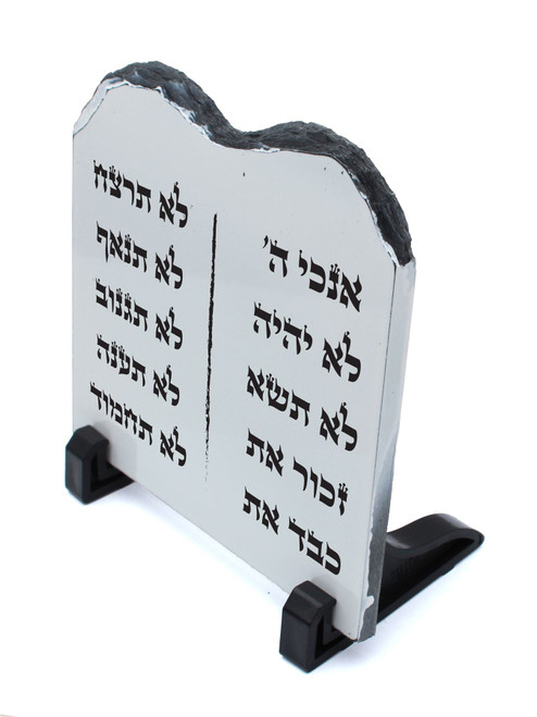 Decorative STONE stand shape Tablets of the Law Covenant HEBREW 10 Commandments