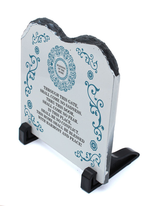 Decorative STONE stand shape Tablets of the Law Covenant ENGLISH home Bless