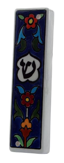 Shaddi Armenian Ceramic Hebrew Mezuzah 12CM Case Israel Jewish Judaica Holy Gift
