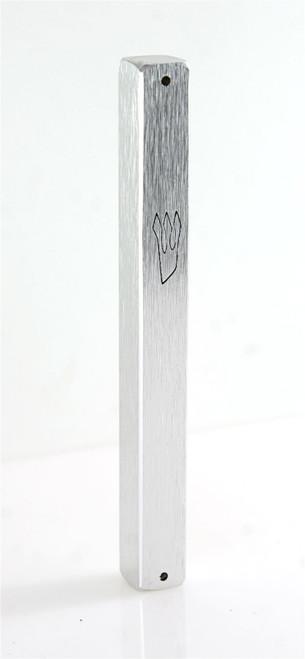 Silver plated Mezuzah Mezuza Case 12cm Judaica Jewish shaddi Aluminum Design